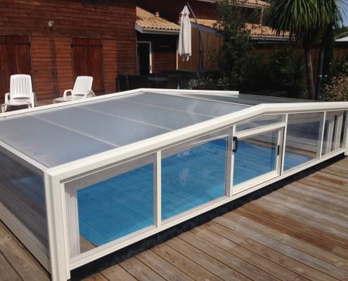 Abri sécurité piscines Bordeaux - Marine et Blanc Piscines